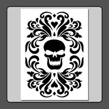 9 X 12 Gothic Skull Damask STENCIL Floral/Halloween/Decor/Crafts/Painting