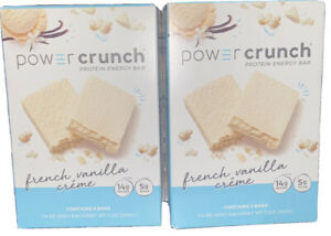 2 Boxes Power Crunch Protein Bar 14g, French Vanilla Cream 14oz Total, New