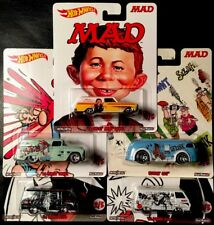 HOT WHEELS MAD MAGAZINE POP CULTURE SET OF 5 RR TIRES SEE PICS FREE SHIPPING