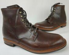 Allen Edmonds Higgins Mill Brown Leather Plain Toe Men's Boots Size 13 E