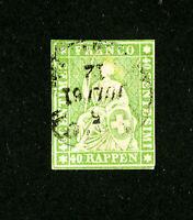 Switzerland Stamps # 40 VF 4 Margins Used Scott Value $92.50