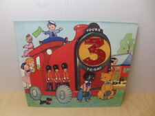 Cute Toys playing on toy Train Pop-up Birthday Card 1950s