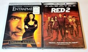Entrapment (DVD, Full Screen, Special Edition) & Red 2 DVD NEW SEALED