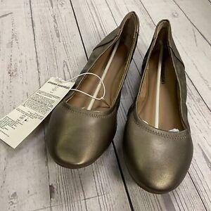 Amazon Essentials Belice Dark Bronze Ballet Flats Shoes Women Size 13 W NEW