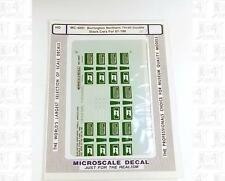 Microscale HO Decals Burlington Northern Thrall Double Stack Cars MC-4097