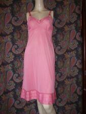 Vintage Komar Pink Nylon Tricot Empire Slip Nighty Lingerie 34