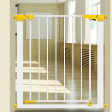 Walk Thru Gate For Stairs Wooden Swing Door Baby Toddler Infant Safety Dog Fence