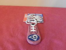 RAMS GENUINE NFL FOOTBALL LEATHER KEYCHAIN