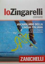 lo Zingarelli minore Vocabolario della lingua Italiana ZANICHELLI  9788808153432