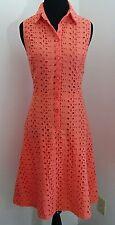 NWOT LONDON TIMES SHIRT DRESS CORAL-MODCLOTH THE BOLD ADAGE DRESS SIZE 6