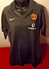 MANCHESTER UNITED OFFICIAL NIKE GREY POLO LIKE NEW CONDITION SIZE M
