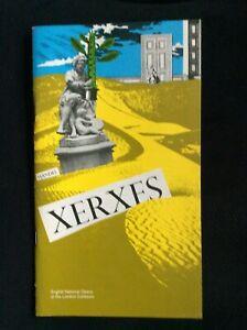 Handel Xerxes  programme ENO Feb 1985