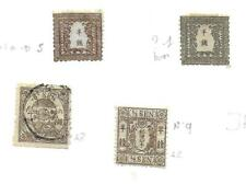 Japan stamps 1872 Collection of 4 CLASSIC stamps HIGH VALUE!