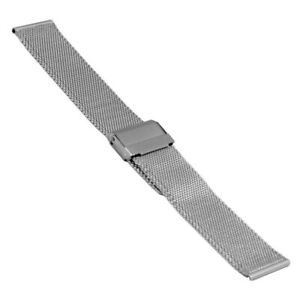 Wrist Watch Band Milanaise / Mesh, High 0 1/16in, Width 0 23/32in, Steel