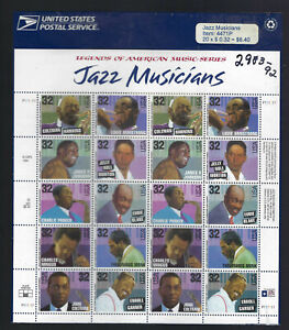 2983-92  Jazz Musiccians P.O. Sealed MNH