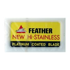 Genuine Feather Hi-stainless Double Edge Razor Platinum Coated Blades - 50pcs