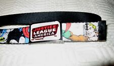 "DC Comic Super Heroes Justice League of America Nylon Unisex Belt  EUC  38"" L"
