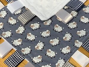 GREY SHEEP BABY/TODDLER TAGGY BLANKET/COMFORTER/GIFT ****MANY OPTIONS*****
