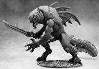 1 x CHAMPION TIIK - BONES REAPER figurine miniature d&d jdr rpg fishman 77187