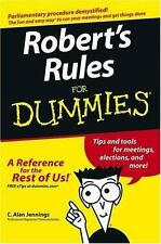 Robert's Rules for Dummies by C. Alan Jennings (2004, Paperback)