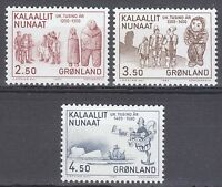 Greenland 1983 Mi 143-145 Sc 150-152 MNH Wooden Dolls Mummy Pothorst explorer