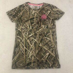 Women's Small Mossy Oak Blades Shirt Camouflage Hunting