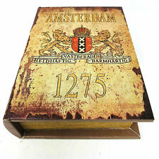 Amsterdam authentic old style Book Stash Rolling Box , Safe Box