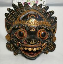 Vintage hand carved painted wood Balinese Barong Mask, Tribal Art From Indonesia