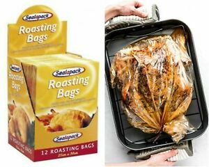 12 x Large Roasting Bags Chicken Turkey Oven Microwave Healthy Cooking