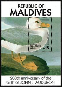 Maldives 1204 s/s, MNH. John Audubon's birds. Northern Fulmar, 1986