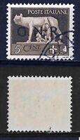 Posta aerea - G.R.N. -1944 - cent 5 - sassone 470  - soprast nera -tappabuco 2