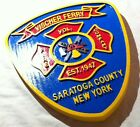 Fire Department Vischer Ferry Saratoga County 3d routed patch sign Custom Carved