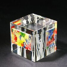 "NEW Optic Crystal Glass Paperweight "" At the VERNISSAGE #3"" by Ray Lapsys"