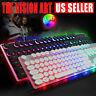 Computer Desktop Wired Gaming Keyboard Mechanical LED Light Backlit