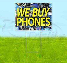 WE BUY PHONES 18x24 Yard Sign WITH STAKE Corrugated Bandit USA ELECTRONICS