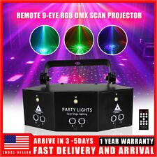 Laser Led Light Remote 9-Eye Rgb Dmx Scan Projector Strobe Dj Stage Lights Xmas