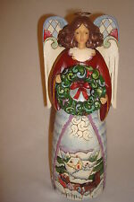 "Jim Shore ""Winter's Joy Winter Angel Musical Figurine  #4013508 MIB 2008"