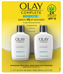 Olay Complete Sensitive 6 fl oz, SPF 15, 2-pack NEW