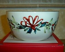 """Lenox WINTER GREETINGS 5"""" Bowl #847254~New In Box~Gold Accent~Catherine McClung"""