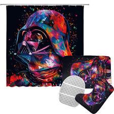 Star Wars Darth Vader Bathroom Rugs Set Shower Curtain Bath Mat Toilet Lid Cover