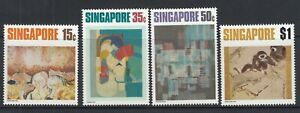 SINGAPORE 1972 CONTEMPORARY ART SET - SG 174-177 - LIGHTLY MOUNTED MINT