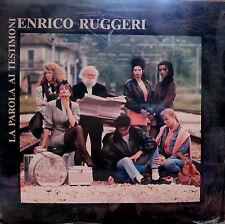 """ENRICO RUGGERI - La Parola Ai Testimoni 1988 LP 12"""" Nuovo SIGILLATO"""