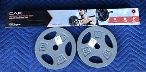 CAP 5' Barbell Bar Weight Set W/ Lock Collars and 20 Lbs Standard Weight Plates