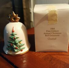 Goebel 1984 First Edition Annual Christmas Bell Ornament