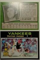 1971 (2) card Thurman Munson #5 Reprint lot.Yankee great.Mint.Free shipping
