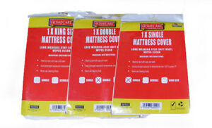 FITTED MATTRESS PROTECTOR SHEET SINGLE, DOUBLE AND KING SIZE WATERPROOF VINYL