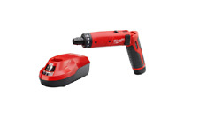 Milwaukee M4 Hex Screwdriver 1/4 in. 4-Volt Lithium-Ion Cordless 2-Battery Kit