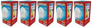 5 x  Eveready 14w (=100w) LED Opal GLS Bulb  Edison Screw (ES) Daylight White