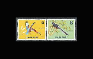 Singapore, Sc #66-67, MNH,1963, Birds, Shama, White breasted kingfisher ADGD-A
