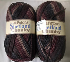 "Lot of 2 Patons Shetland Chunky ""Canyon Variegated"" Yarn Same Dye Lot"